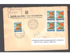 1968 - LBF/1417 - REPUBBLICA - SERVIZIO CONTI CORRENTI - BUSTA RACC. FDC