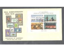 1979 - LOTTO/10954 - GUERNSEY - INDIPENDENZA POSTALE FOGLIETTO - BUSTA FDC