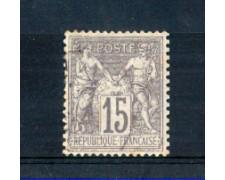 1876/81 - LOTTO/FRA66U - FRANCIA - 15c. GRIGIO - USATO
