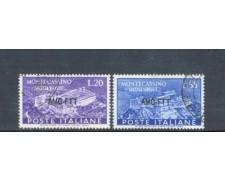 1951 - LOTTO/10292CPU - TRIESTE A - ABBAZIA DI MONTECASSINO 2v. - USATI
