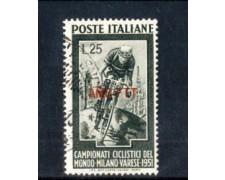1951 - LOTTO/11036 - TRIESTE A - CAMPIONATI DI CICLISMO - USATO