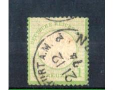 1872 - LOTTO/11158 - GERMANIA IMPERO - 1 K. VERDE GIALLO - USATO