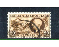 1939 - LOTTO/11178 - ALBANIA ITALIANA - 20q. POSTA AEREA - USATO