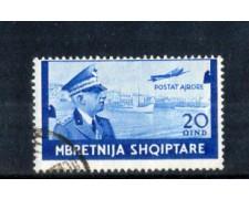 1940 - LOTTO/11179U - ALBANIA ITALIANA - 20q. POSTA AEREA - USATO