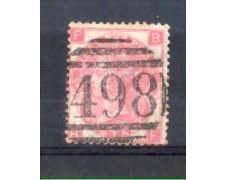 1865 - LOTTO/11188 - GRAN BRETGNA - 3p. ROSA - USATO