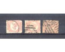 1870 - LOTTO/11193 - GRAN BRETAGNA - 1/2p. ROSSO CARMINIO INSIEME DI TRE ESEMPLARI - USATI