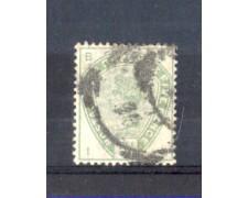 1883 - LOTTO/11207 - GRAN BRETAGNA  - 5p. VERDE - USATO