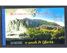 2000 - LOTTO/11215U - SAN MARINO - 17° CENTENARIO DELLA FONDAZIONE - LIBRETTO USATO FDC