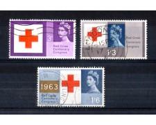1963 - LOTTO/11269 - GRAN BRETAGNA - CROCE ROSSA  3v. - USATI