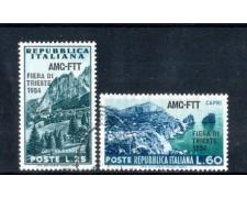 1954 - LOTTO/10383CPU - TRIESTE A - 6° FIERA DI TRIESTE 2v. - USATI