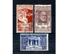1922 - LOTTO/11299 - REGNO - GIUSEPPE MAZZINI 3v. - USATI
