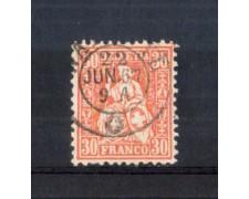 1862 - LOTTO/11362 - SVIZZERA - 30 CENT. VERMIGLIO - USATO