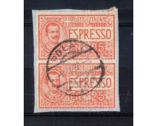 1903 - LOTTO/11371 - REGNO - 25c. ESPRESSO COPPIA ANNULLO DI POLA