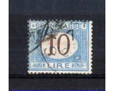1870 - LOTTO/11373 - REGNO - 10 LIRE SEGNATASSE - USATO