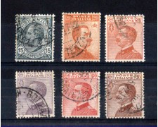 1917/20 - LOTTO/11382 - REGNO -  EFFIGIE 6v. - USATI