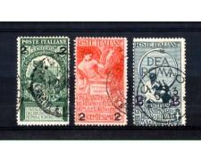 1913 - LOTTO/11395 - REGNO -  UNITA' D'ITALIA SOPRASTAMPATI 3v. - USATI