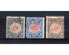 1921 - LOTTO/11396 - REGNO - ANNESSIONE VENEZIA GIULIA 3v. - USATI