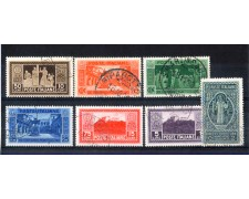 1929 - LOTTO/11399 - REGNO - ABBAZIA DI MONTECASSINO 7v. - USATI
