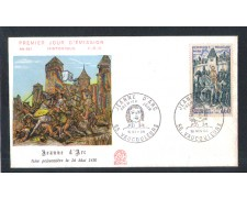 1968 - LOTTO/11087 - FRANCIA - GIOVANNA D'ARCO - BUSTA FDC