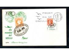 1970 - LOTTO/11098 - SPAGNA  - GIORNATA MONDIALE DEL FRANCOBOLLO  - BUSTA FDC