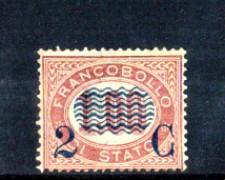 1878 - LOTTO/11103 - REGNO - 2 CENT. SU 1,00 LACCA - LING.