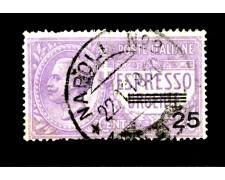 1917 - LOTTO/11521 - REGNO - ESPRESSO 25c. su 40c. VIOLETTO - USATO