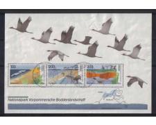 1996 - LOTTO/GFBF35U GERMANIA -  PARCHI  NAZIONALI FOGLIETTO - USATO