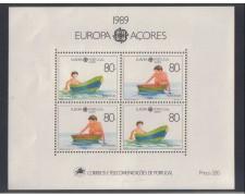 1989 -AZZORRE -  EUROPA FOGLIETTO