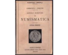1915 - HOEPLI/3 -  MANUALE DI NUMISMATICA