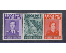 1937 - LBF/1858 - ALBANIA - ANNIV. REGNO 3v. DA BF.