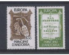 1985 - LBF/1872 - ANDORRA FRANCESE - EUROPA ANNO MUSICA 2v.