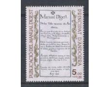 1986 - LBF/1877 - ANDORRA FRANCESE - MANUAL DIGEST 1v.