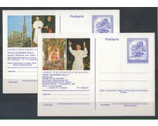 AUSTRIA - 1983 - LBF/1995 - VISITA PAPA - 2 CARTOLINE POSTALI