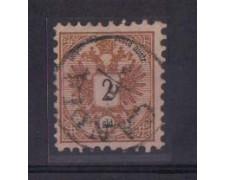 1883 - LOTTO/3695A - AUSTRIA LEVANTE - 2 SOLDI BRUNO. GIALLO