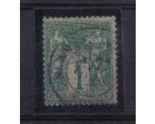 1876 - LBF/2274 - FRANCIA - 1c. VERDE - USATO