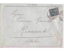 1901 - LBF/2291  - FRANCIA - 25c. SU BUSTA
