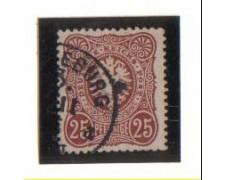 1875 -  LBF/2349A - GERMANIA IMPERO - 25p. BRUNO ROSSO - USATO
