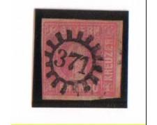 BAVIERA - 1849 - LBF/2358 - 1K. ROSA - usato