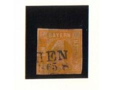 BAVIERA - 1861 - LBF/2360 - 1k. GIALLO - USATO