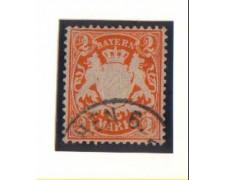 BAVIERA - 1911 - LBF/2364 - 2m. ARANCIO - USATO