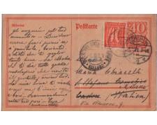 1921 - LBF/2405 -  GERMANIA REICH - CART. POSTALE