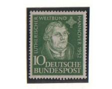 1952 - LBF/2441 -  GERMANIA FEDERALE -  CONGRESSO LUTERANO