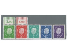 1959 - LBF/2467 - GERMANIA FEDERALE - COMPLEANNO HEUSS 5v.