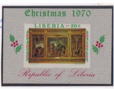 1970 - LBF/2560 -  LIBERIA - NATALE FOGLIETTO