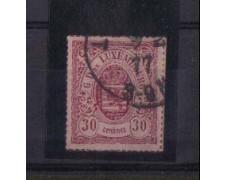 1865 - LBF/2584- LUSSEMBURGO -30c. LILLA