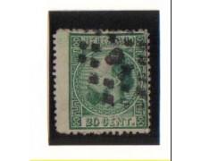 1867 - LBF/2651  - OLANDA - 20c. VERDE - USATO