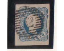 1855 - LOTTO/9605U - PORTOGALLO - 25r.AZZURRO - USATO