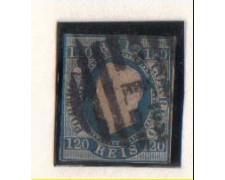 1866 - LOTTO/9624U -  PORTOGALLO - 120r. AZZURRO - USATO