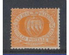 1877/90 - LBF/2721A - S. MARINO - 5c. GIALLO ARANCIO
