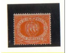 1877/90 - LBF/2721 -  S.MARINO - 5c. GIALLO ARANCIO - T/L